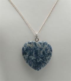 "-GN108 GEM HEART NECKLACE. 1 5/8"" WITH A 24"" CHAIN."