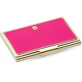 "_,852092 INITIAL ""B"" BUSINESS CARD HOLDER PINK 3.75""/9.53cm"