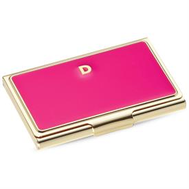 "-,852094 INITIAL ""D"" BUSINESS CARD HOLDERS PINK 3.75""/9.53cm."