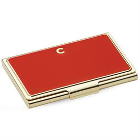 "_,852093 INITIAL ""C""BUSINESS CARD HOLDER 3.75""ORANGE."