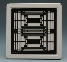 -ART GLASS III COASTERS S/4 FRANK LOYD WRIGHT DESIGN 4X4 SQUARE.