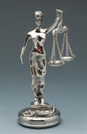 """-PEN HOLDER JUSTICE SILVER PLATED 6""""TALL."""