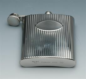 ,_MEDALLION DESIGN FLASK STAINLESS STEEL 7OZ.