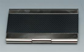 -BUSINESS CARD HOLDER /POCKET BLACK AND SILVER.
