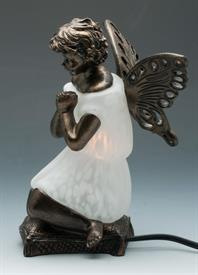 "-WHITE PRAYER ANGEL 6""X5.25""X8.5""H"