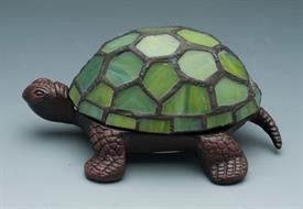 "-STAINED GLASS TURTLE ACCENT LAMP GREEN BATTERY OPERATED 3AAA  NOT INCLUDED 5.625""X3.875""X2.5""H"