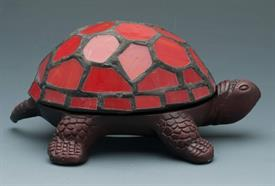 "-STAINED GLASS TURTLE ACCENT LAMP RED BATTERY OPERATED NOT INCLUDED 5.625""X3.875""X2.5""H"