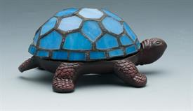 "-STAINED GLASS TURTLE ACCENT LAMP BATTERY OPERATED NOT INCLUDED 5.625""X3.875""X2.5""H"