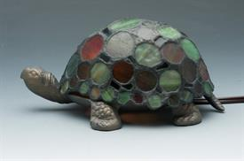 "-TIFFANY STYLE SPOTTED TURTLE ACCENT LAMP 6.80""X4.75""H"