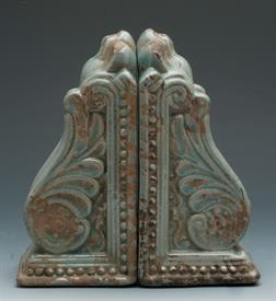 "_10825BL BOOKENDS BLUE NEO CLASSICAL DESIGN 8""WIDE X 8"" TALL ."