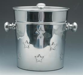 "_ALUMINUM ICE BUCKET WITH STAR DESIGN ON SIDE 8"" TALL"