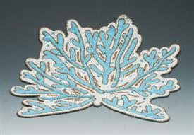 _,BLUE SEAWEED PLACEMAT. HAND BEADED. 14""