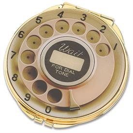 -857802 COMPACT DIAL PHONE FACE COMPACT WITH MIRROR.