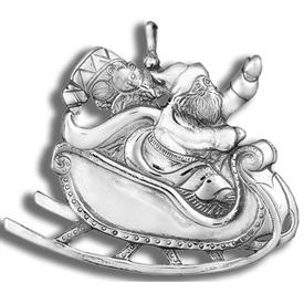 -,SANTA IN SLEIGH ORNAMENT