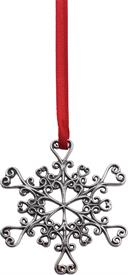 "-,FILAGREE SNOWFLAKE ORNAMENT #713 STERLING 2"" X 2"""