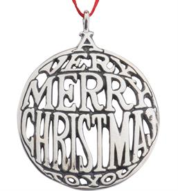 -,VERY MERRY CHRISTMAS STERLING SILVER ORNAMENT