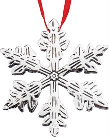 -,SNOWFLAKE 1302 STERLING SILVER ORNAMENT.