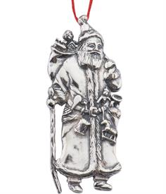 ,-FATHER CHRISTMAS STERLING SILVER ORNAMENT.