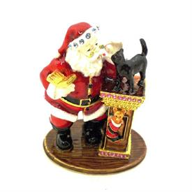 "-1018034 SANTA WITH CAT TRINKET BOX. 3"" TALL"