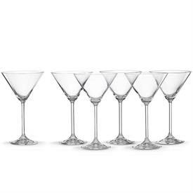 -SET OF 6 COCKTAIL GLASSES. 8 OZ. CAPACITY. DISHWASHER SAFE. BREAKAGE REPLACEMENT AVAILABLE. MSRP $72.00