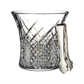 "-ICE BUCKET WITH TONGS. 7.5"" x 7.6"""
