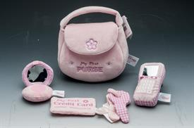 "-:MY FIRST PURSE PLAYSET. 9.5"" LONG."