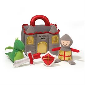 -,MY LITTLE CASTLE PLAYSET. CONTAINS A CASTLE, KNIGHT, DRAGON, SWORD & SHIELD.