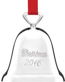 "_329/3 ""CHRISTMAS 2016"" SILVER PLATED BELL REED & BARTON 3"" high  MSRP $30.00"