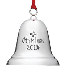 ",_X800E Sterling Bell 32ND Edition Engraved ""Christmas 2016""  Height 2-3/4"" MSRP $150 - Very Popular Seller"