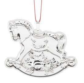 ",_Rocking Horse 19th Edition Francis 1 Sterling Silver Annual Ornament by Reed & Barton 2-3/4"" high MSRP  $175.00"