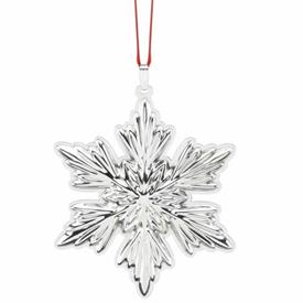 ",Holiday Snowflake 4th Edition Sterling Silver Ornament by Reed & Barton 3"" MSRP $150"