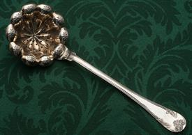 ",SUGAR SIFTING SPOON SILVER EUROPEAN 8.3"" LONG"