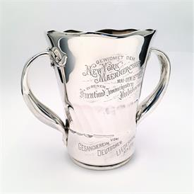 ",WHITING MANUFACTURING CO. STERLING MEN'S CHORAL SOCIETY TROPHY. 34.85 TROY OZ  8.25"" TALL, 9.75"" WIDE. CA. 1895"