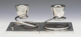 ",TAXCO MEXICAN CANDLESTICKS PAIR 12.80 TROY OUNCES STERLING SILVER 3.5"" WIDE BY 3.1"" TALL"
