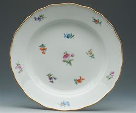 "MEISSEN ""SCATTERED FLOWERS"" 9.75"" DINNER PLATE WITH ""X"" MARK ON BACK"
