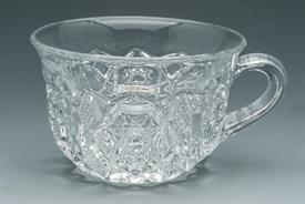 ":FOSTORIA ROSBY-CLEAR PUNCH CUPS 2.25"" TALL."