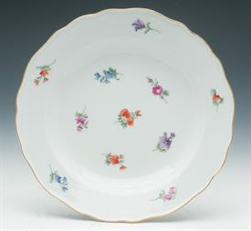 "MEISSEN ""SCATTERED FLOWERS"" DESSERT/PIE PLATE 7.5"""