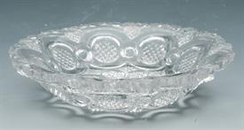 "SANDWICH GLASS LACY ROMAN ROSETTET FLIINT GLASS CUP PLATE 4"""