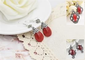 -:ASSORTED RED EARRINGS