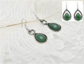 -ASSORTED GREEN EARRINGS