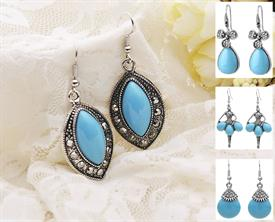 -:ASSORTED TURQUOISE EARRINGS