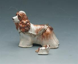 "_,2.25"" SHAGGY DOG/COCKER SPANIEL STANDING WITH RHINESTONES"