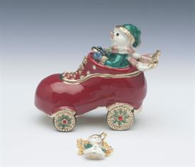 _,TT1155 SNOWMAN DRIVING SHOE CAR