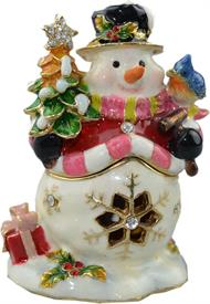 _,TT2198 SNOWMAN WITH BIRD AND CHRISTMAS TREE