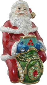 _,TT2210 SANTA CLAUS, RED SUIT, GREEN BAG