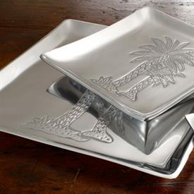 "_9403 12"" ALUMINUM PALM TREE PLATTER"