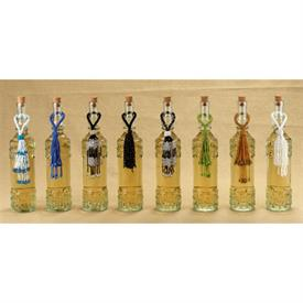 _11818 BEADED GLASS WINE BOTTLE CHARMS, ASSORTED STYLES