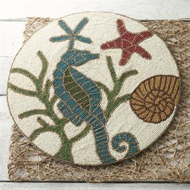 -,15184 SEAHORSE, STARFISH, SEAWEED AND SHELL PLACEMAT