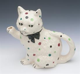 """DOTTIE THE CAT"" TEAPOT BY SHORTER & SON STAFFORDSHIRE ENGLAND.  8.25"" TALL"