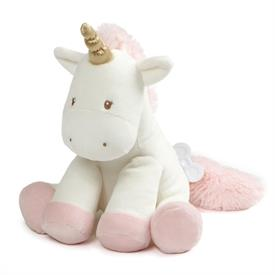 "-,LUNA MUSICAL KEYWIND UNICORN. 9"" TALL. PLAYS BRAHAM'S LULLABY"